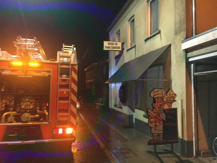 De brandweer rukte uit naar de bakkerij van Johan Dewilde in Westrozebeke.