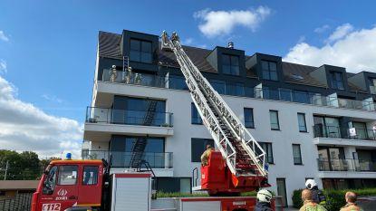 Isolatie van appartement schiet in brand tijdens werken