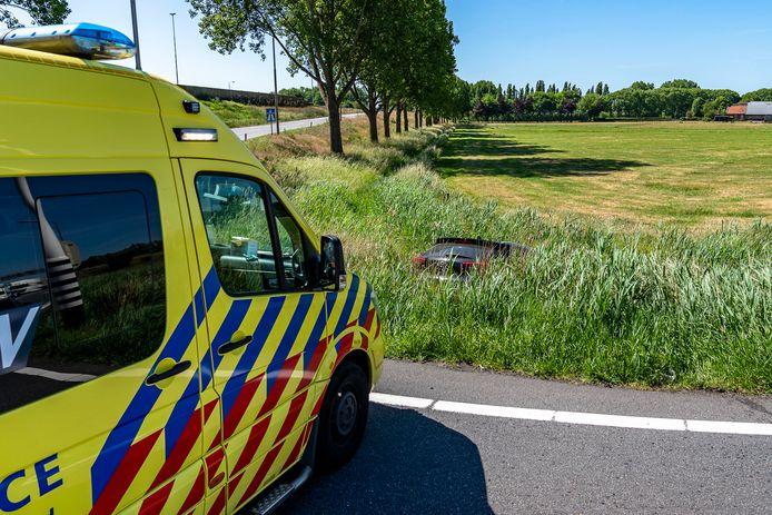 Een man raakte gewond bij een ongeval bij de oprit van de A27.