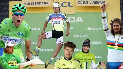Van de elleboog aan Cavendish over drie wereldtitels tot een dansje op Nieuwjaarsdag: het beste van Peter Sagan