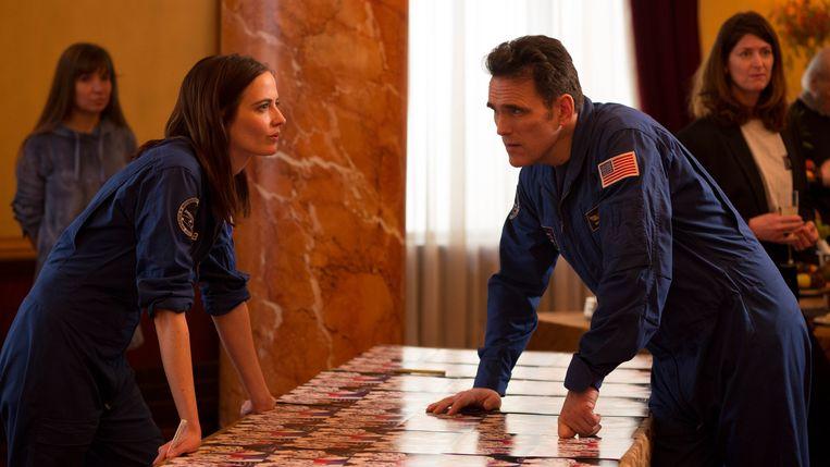 Eva Green en Matt Dillon als astronauten in Proxima. Beeld