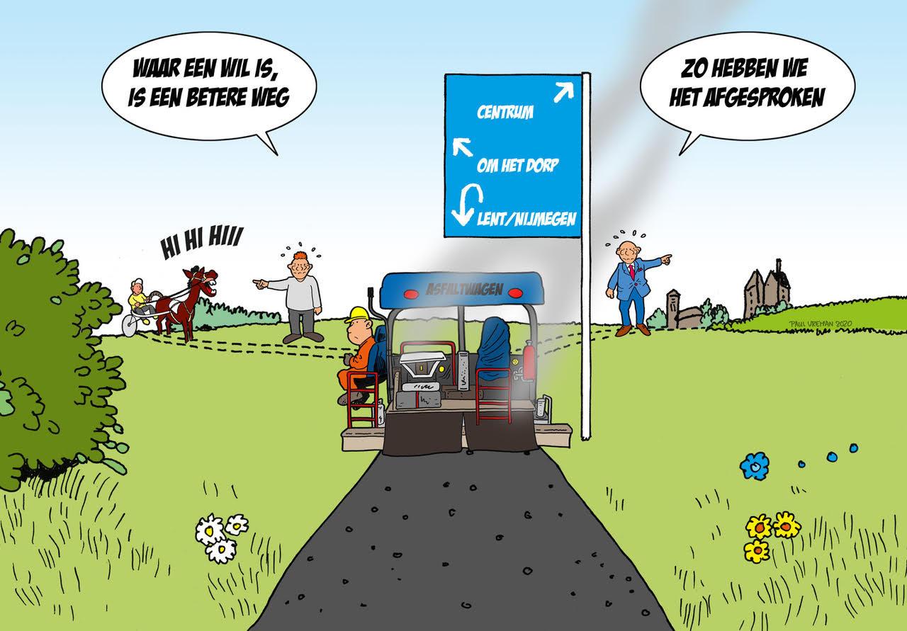 Cartoon Dorpensingel.
