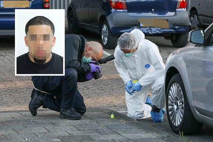 Aldijr M. (inzet) is veroordeeld voor het doodschieten van Gino Oliveira in Rotterdam-Delfshaven.