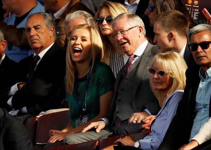Sir Alex Ferguson en tv-presentatrice Rachel Riley.