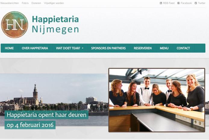De website van Happietaria Nijmegen.