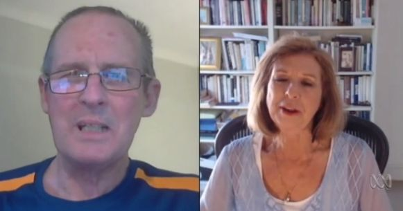 Links: Nicolaas Bester. Rechts: Bettina Arndt, een journaliste die het volste begrip voor hem had.