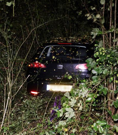 Auto raakt van de weg en komt in bosjes tot stilstand bij Oldenzaal