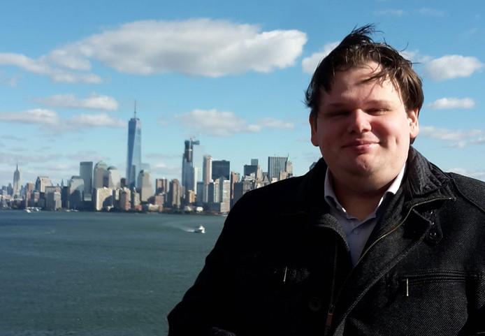 De Tielse wethouder Laurens Verspuij in New York.