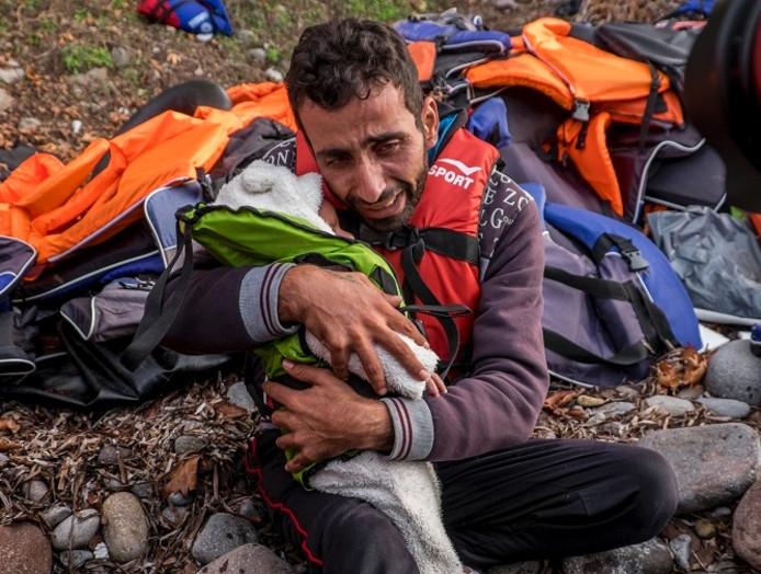 Een van de foto's van Pulitzerprijs-winnaar Javier Bauluz