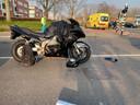 De motor had na het ongeluk in Eindhoven flinke schade.