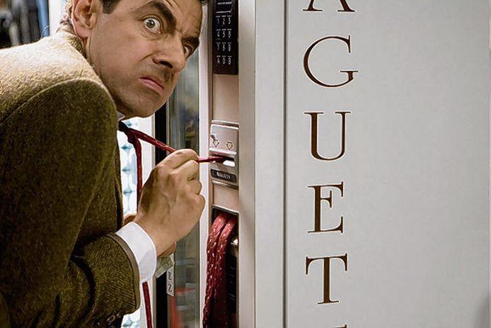 Rowan Atkinson als Mr. Bean. Ook altijd pech.