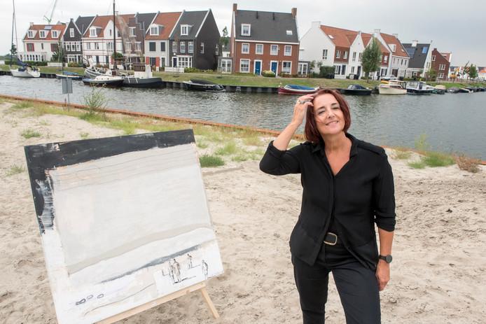 Geke Uit de Bosch uit Harderwijk is een van de deelnemers aan de kunstroute.