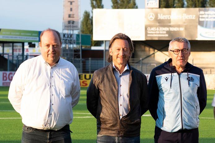 Peter Denruyter (midden) ziet maar één optie en dat is de competitie in eerste nationale helemaal uitspelen.