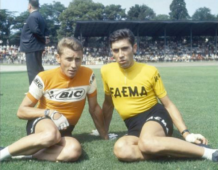 Jacques Anquetil et Eddy Merckx