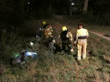Scooter in brand gestoken in Zwanenveld