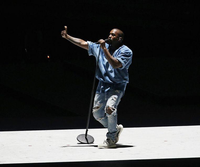 Kanye West, hier vorig jaar bij een optreden. Beeld EPA