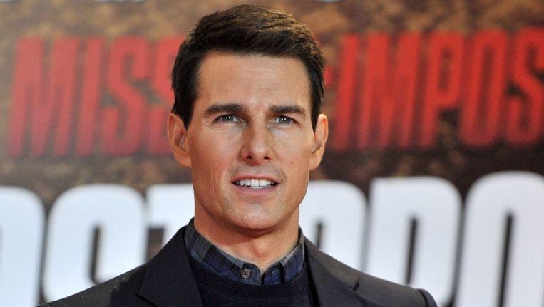 Tom Cruise bij de Londense première van Mission Impossible: Ghost Protocol, december 2011. Beeld epa