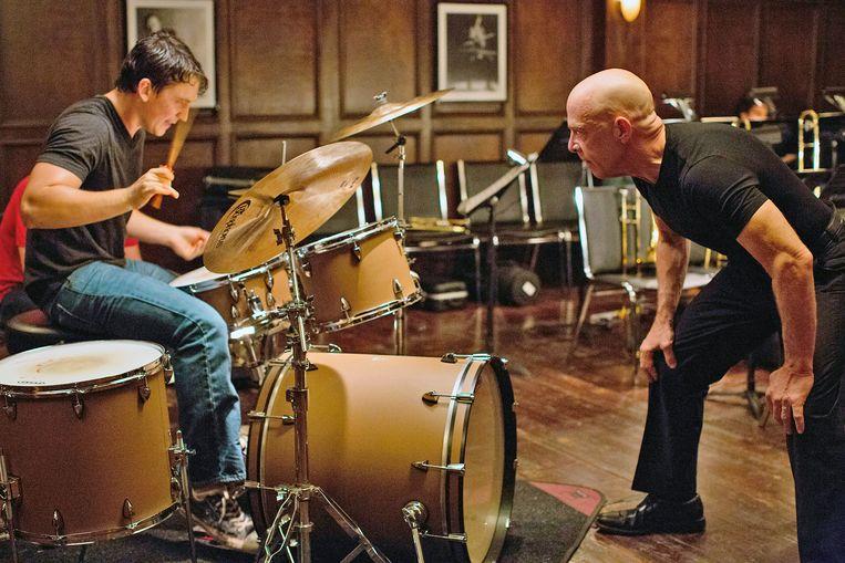 Miles Teller (links) en J.K. Simmons in Whiplash. Beeld Daniel McFadden / Sony Pictures Classics