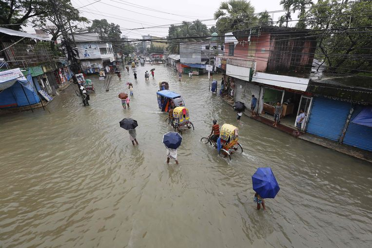 Bangladesh staat grotendeels onder water.