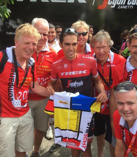 Utrechtse lobby voor Vuelta eert Alberto Contador met speciaal Stijl-shirt