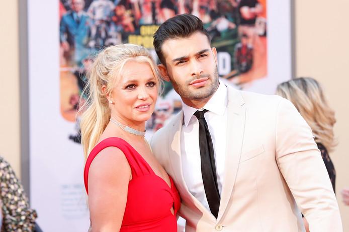 Britney Spears en haar vriend Sam Asghari