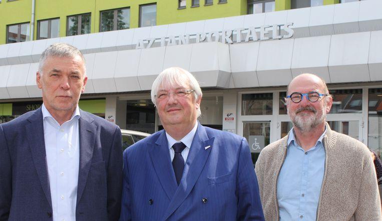 Voorzitter Piet De Greef en ondervoorzitters Rudy Mattheus en Jacques Mevis werden zopas verkozen.
