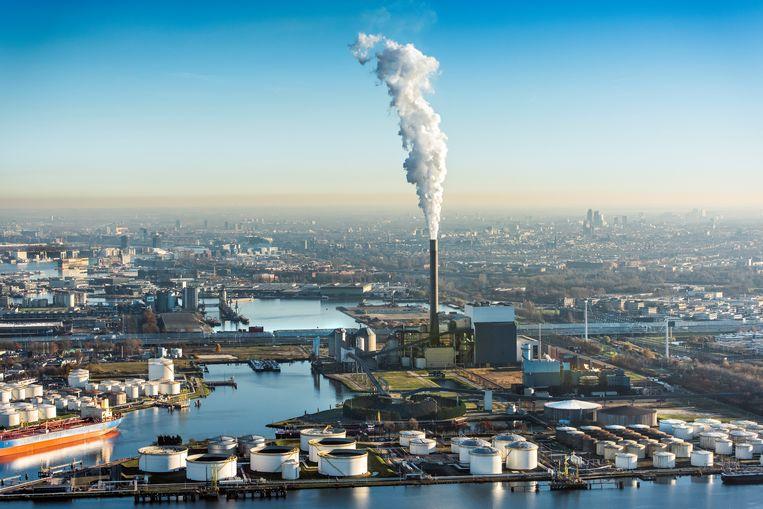 Nuons kolencentrale aan de Hemweg in het Westelijk havengebied. (Foto: John Gundlach)  Beeld ANP