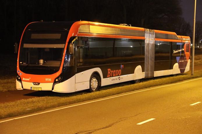 Gestrande bus op de Anthony Fokkerweg