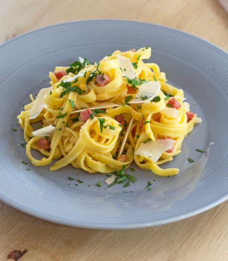 Wat Eten We Vandaag: Pasta Pecorino met spekjes