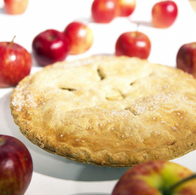 De Russische variant van de appeltaart ziet er iets anders uit. Maar het gaat om het idee. Beeld thinkstock