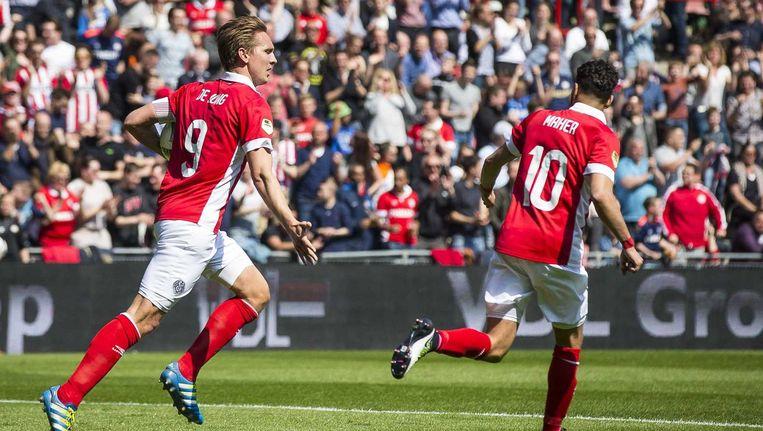 PSV jaagde op meer goals, maar kwam ook in doelsaldo niet dichter bij Ajax. Beeld anp