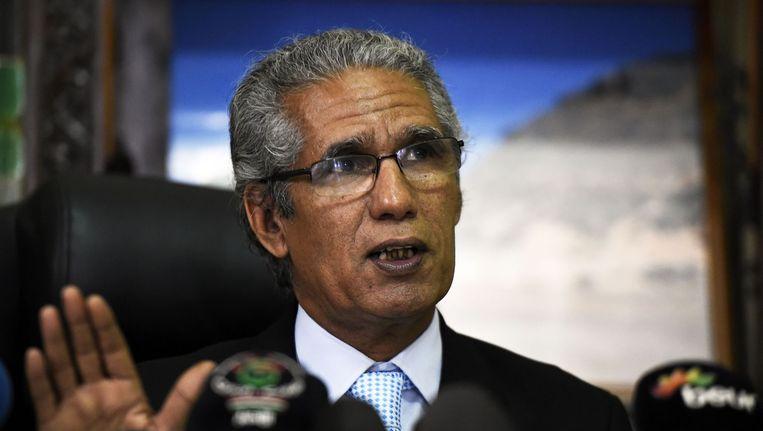 Salem Ould Salek, minister van buitenlandse zaken van de Westelijke Sahara. Beeld afp