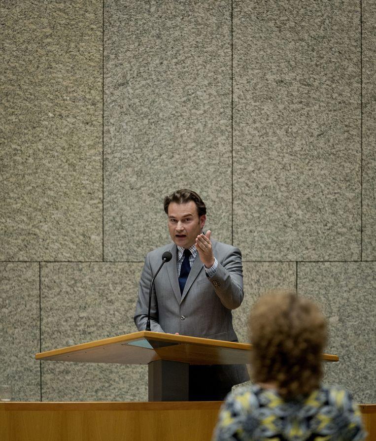 Oktober 2013: Kamerlid Rutte (VVD) in debat met Renske Leijten over de begroting van het ministerie van Volksgezondheid, Welzijn en Sport. Beeld anp