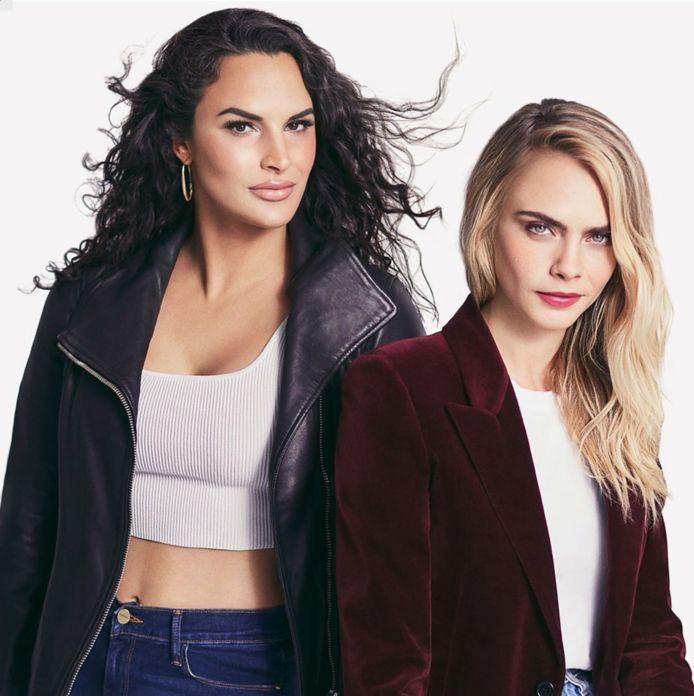 Cara Delavingne en Lora DiCarlo, nu samen eigenaars van seksspeeltjesbedrijf Lora DiCarlo.