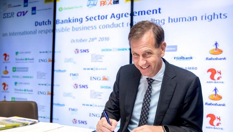 Wiebe Draijer, CEO van de Rabobank. Beeld anp