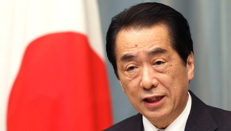 De Japanse premier Naoto Kan. Beeld ap