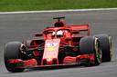 De Ferrari van Sebastian Vettel.