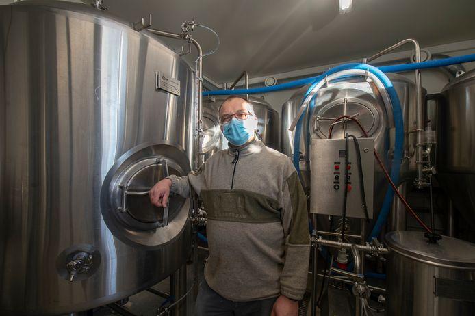 Chris Van den Bergh van Brouwerij Ganzenhof.