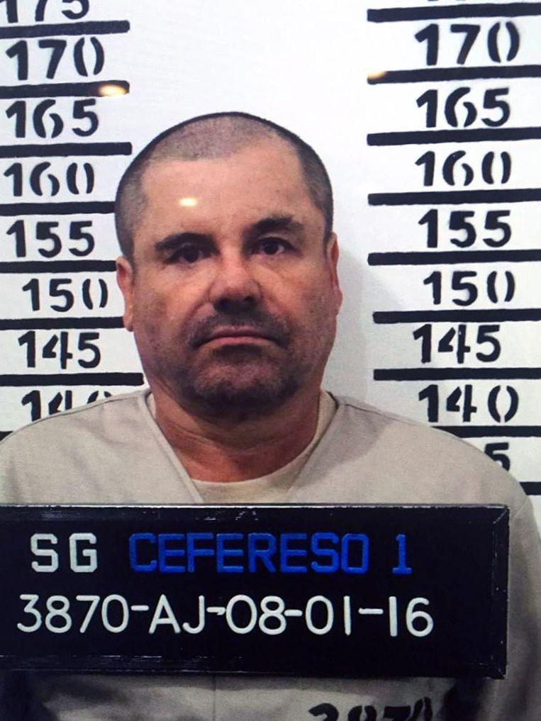 Politiefoto van Joaquin 'El Chapo' Guzmán Beeld ANP