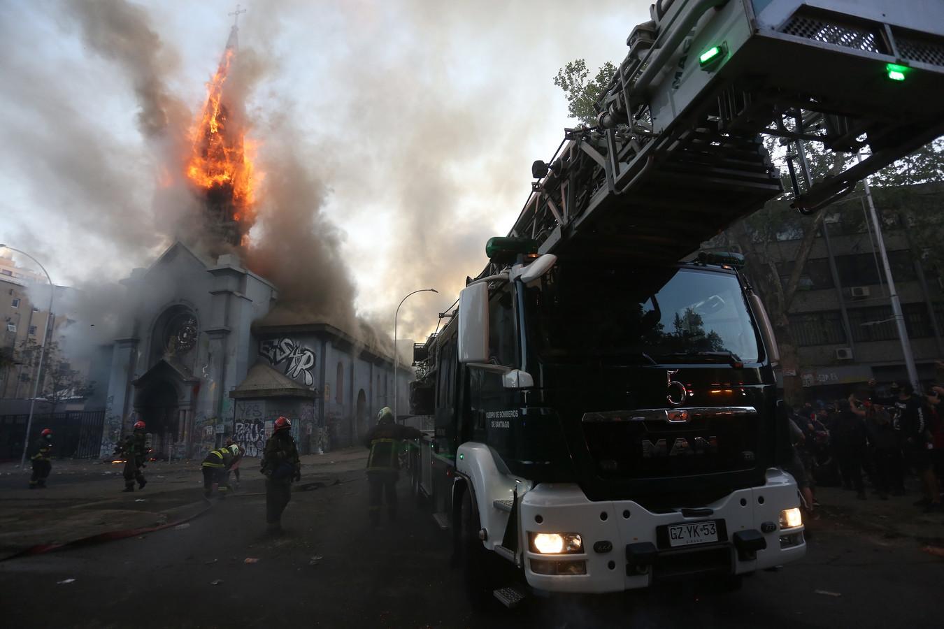 De brandende kerk