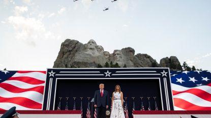 Trump haalt uit naar links in speech bij Mount Rushmore