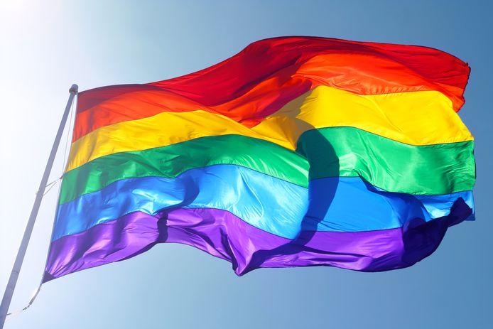 De regenboogvlag staat symbool voor (steun aan de) LHBTI-gemeenschap.