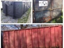Politie Hardenberg staat voor een raadsel om containerdiefstallen: 'Wat moet je met zo'n ding?'