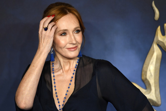J.K. Rowling vorige maand bij de première van de verfilming van haar boek  Fantastic Beasts: the Crimes of Grindelwald in London
