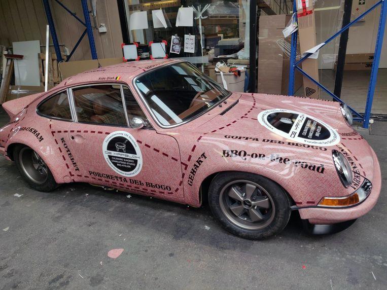 Dit is de Pink Pig Porsche 911 van Erwin Mertens nadat hij bij specialist Stand By is gepasseerd.