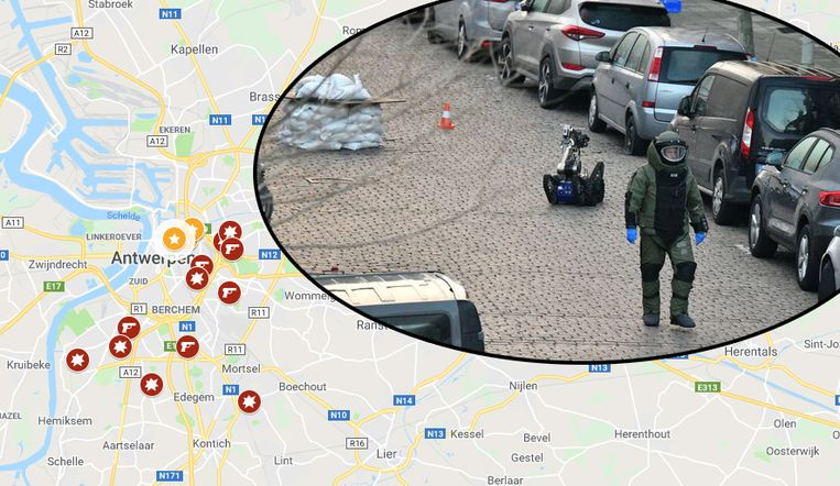 Een explosief wordt gecontroleerd tot ontploffing gebracht door DOVO in de De Pretstraat in maart van dit jaar.