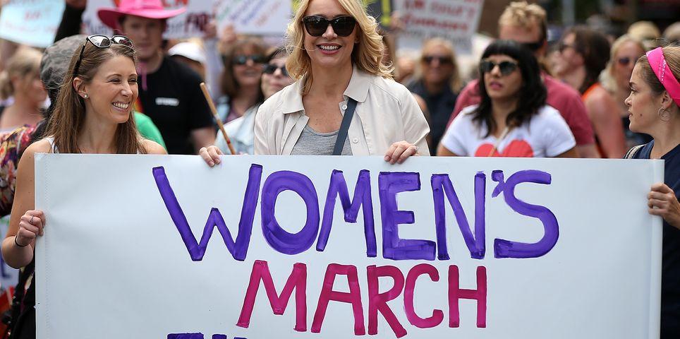 fotoreeks over Vrouwen protesteren overal ter wereld tegen Trump