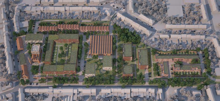 Zo zal de nieuwe woonwijk aan de Dijkstraat eruitzien.