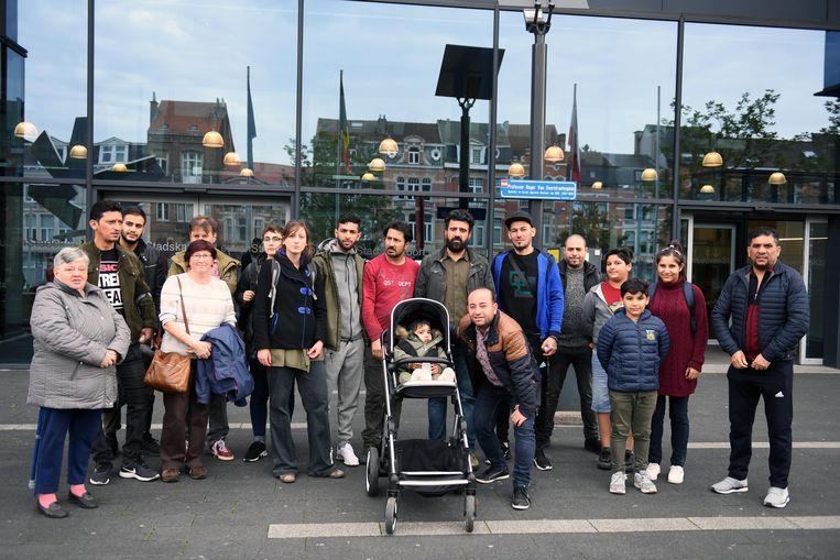 Een delegatie van bewoners kwam naar de infovergadering in het Leuvense Stadskantoor.