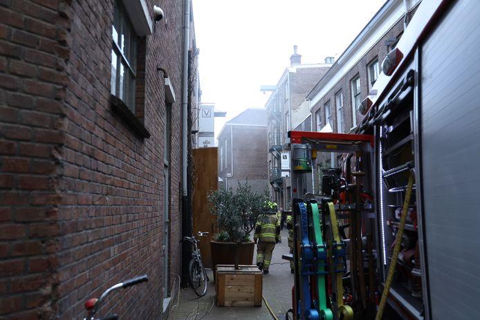 Brand in het restaurant in Arnhem.